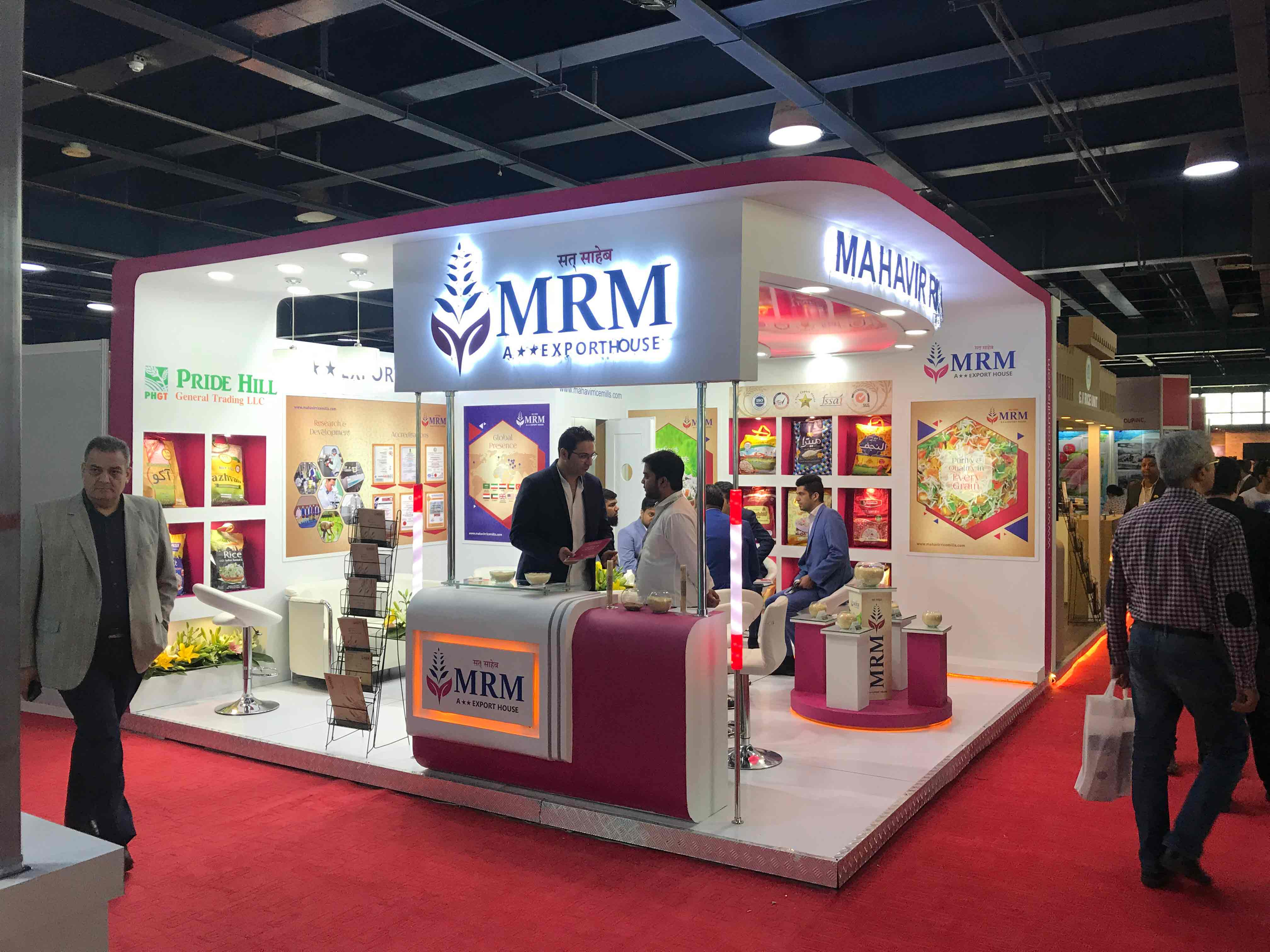 Exhibition Booth Contractor : Booth construction at agrofood exhibition 2018 tarsim luxurious